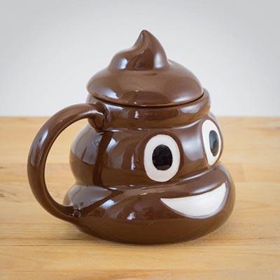 idee regalo emoji tazza poo