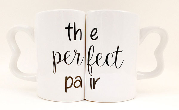 "Set tazze per coppia ""The Perfect Pair"""