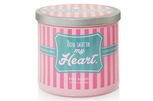 "Regalo di San Valentino per ragazze: Candela tumbler Yankee Candle ""You warm my heart"""