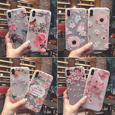 Cover iPhone X Fiori Farfalle