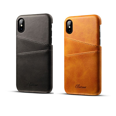 Cover iPhone X pelle portatessere