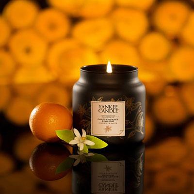 Candele in giare di vetro autunno 2017. Yankee Candle Golden Orange Blossom