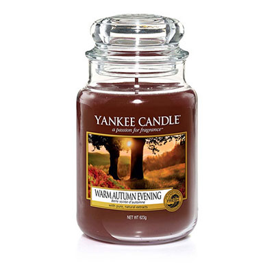 Candele in giare di vetro autunno 2017. Yankee Candle Warm Autumn Evening