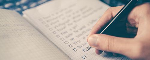 Fare una lista - Come prepararsi al Black Friday