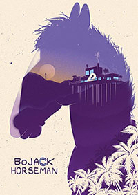 Poster a tema Bojack Horseman